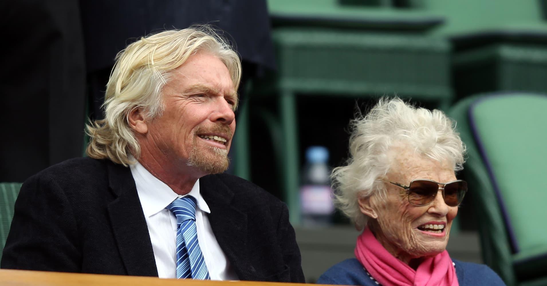 Richard Branson's mom shares the secret to raising successful businessmen