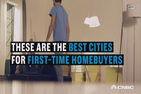 Top five most favorable cities for first-time homebuyers