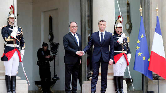 Emmanuel Macron Arrives for Inauguration as French President