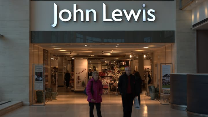 The people walking away from the entrance to a John Lewis store