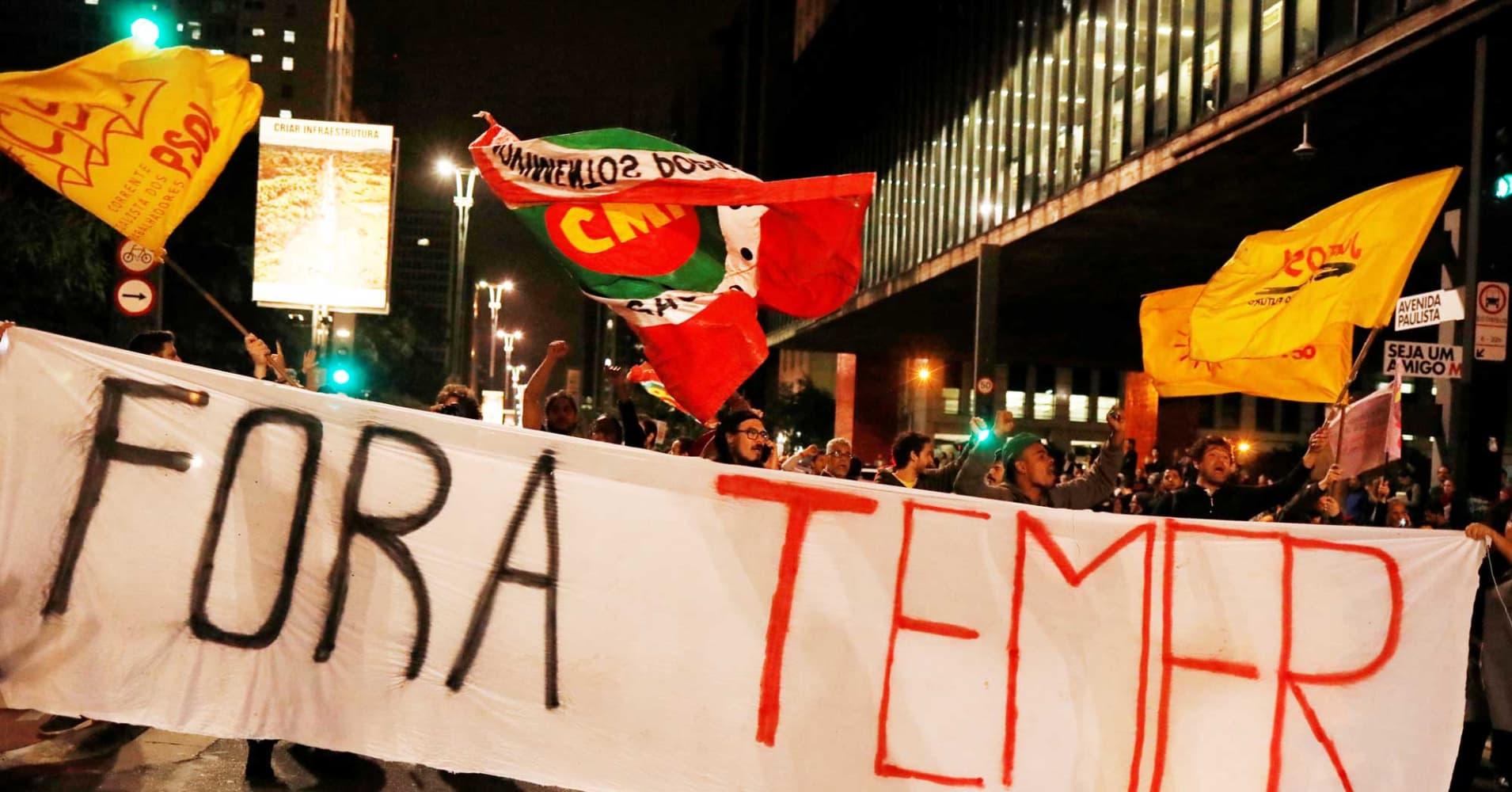 This Brazil stocks ETF is crashing more than 13% on an emerging political scandal