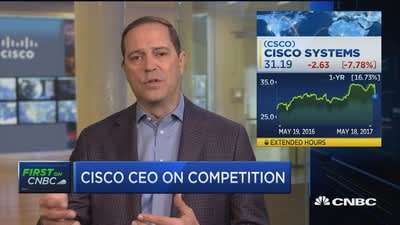 Full interview with Cisco CEO Robbins on earnings, tough guidance