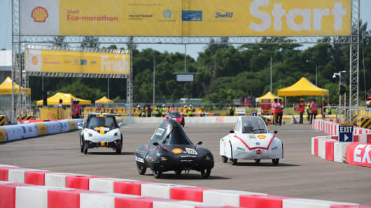 "Shell's ""Make the Future"" competition in Singapore."