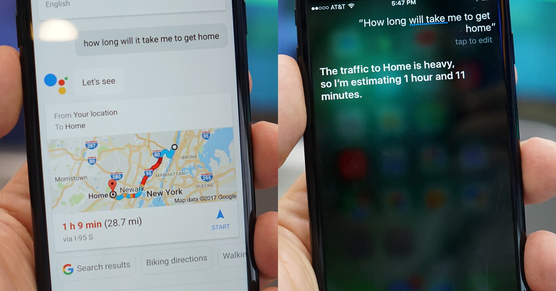 Siri vs Google Assistant on iPhone: Watch Google win on Apple's home turf