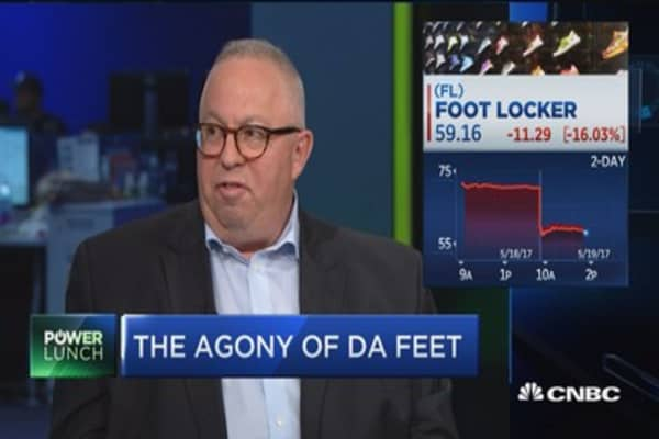 FootLocker among the retailers on pace for the worst week