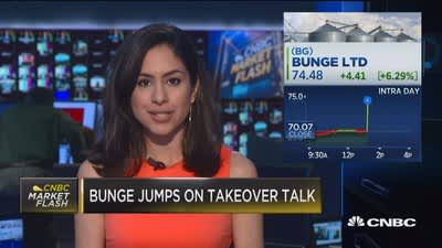 Bunge jumps on takeover talk