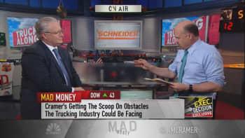 Cramer talks to Schneider National CEO Chris Lofgren