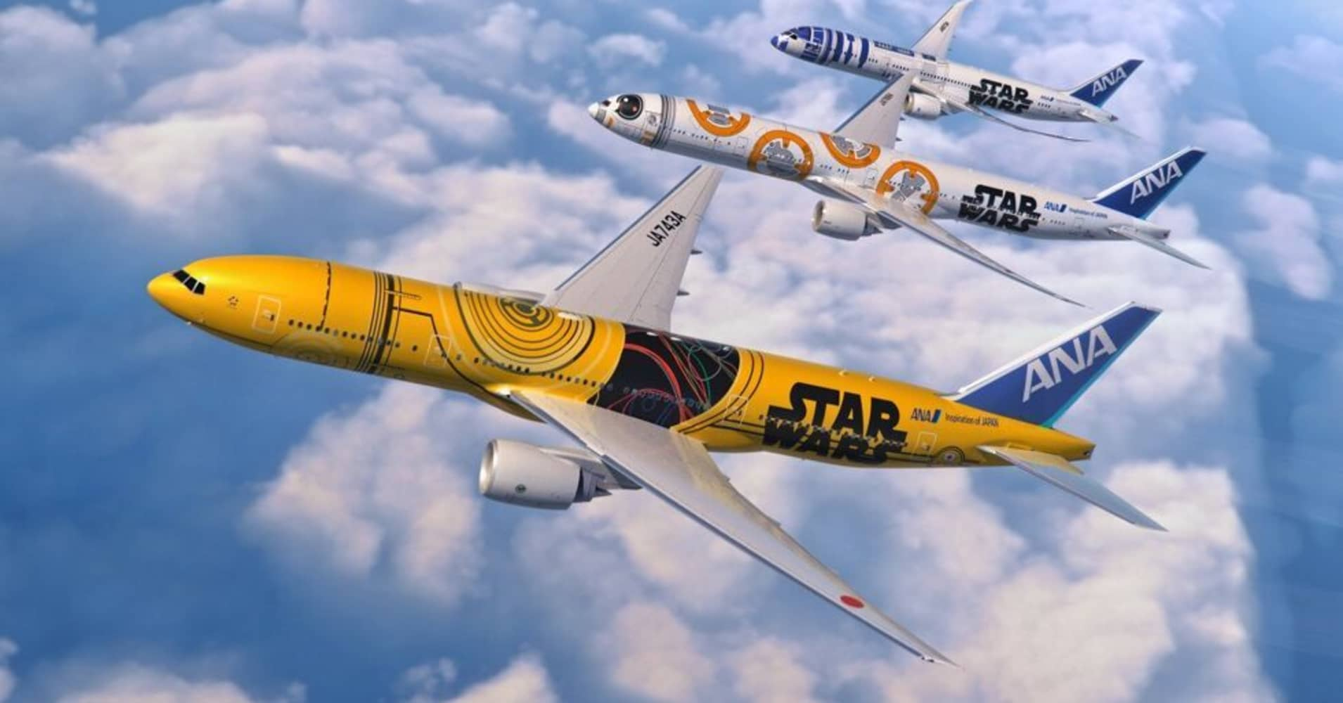 Airline liveries use Star Wars, cartoons and nature as decorations