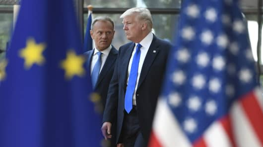 Trump talks counter-terrorism with EU, NATO leaders