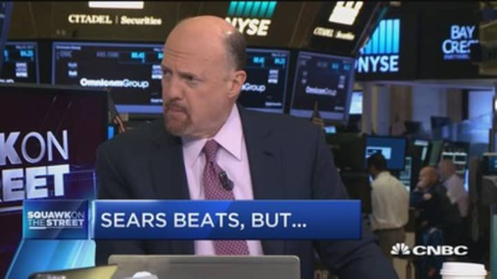 Sears is a big short squeeze whenever it goes up: Cramer