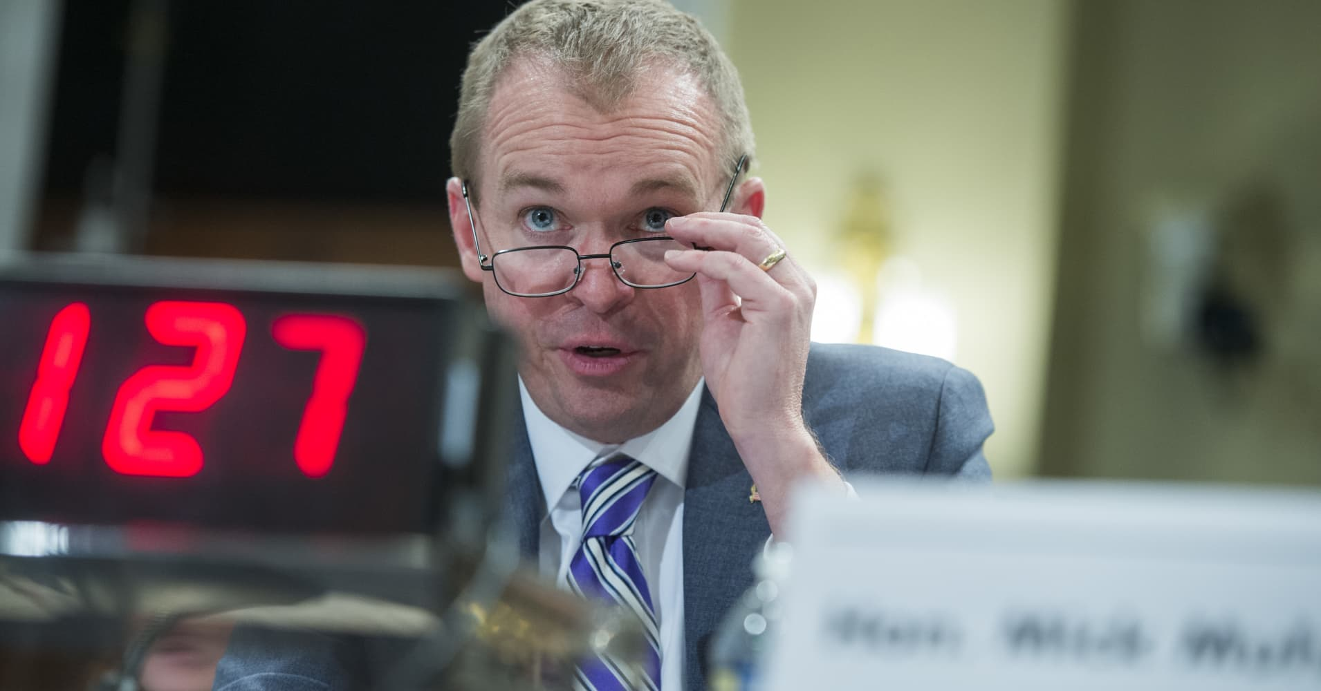 Watch: Mulvaney testifies before Senate committee on budget