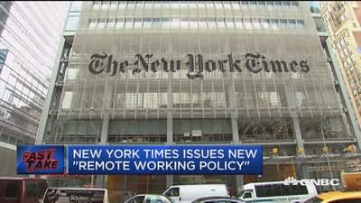 The New York Times issues new 'remote working policy'