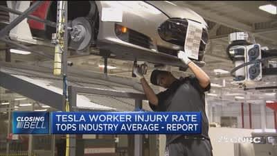 Tesla worker injury rate tops industry average: Report