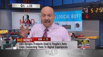 Cramer digs into Logitech's game plan