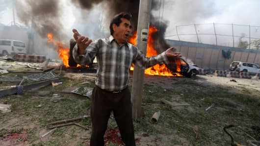 Kabul explosion: Blast kills 80 near diplomatic area in Afghanistan