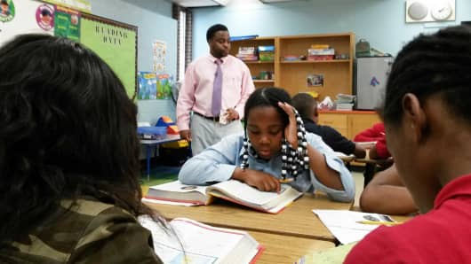 Donavon Gardener is in his 11th year of teaching in Detroit's public school system, which is short some 250 teachers.