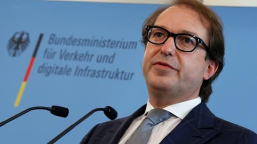 Transport Minister Alexander Dobrindt.