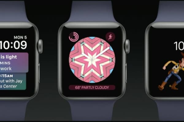 Three new face modes for Apple Watch.