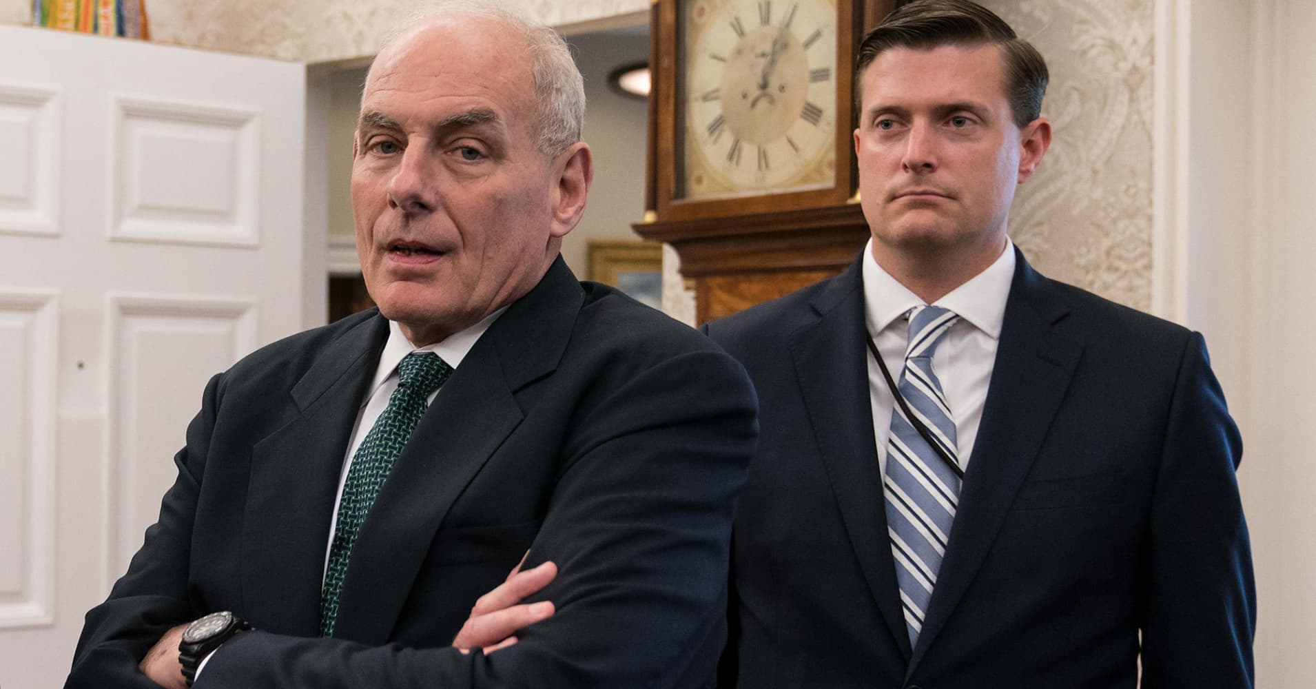 Trump still has confidence in John Kelly despite Rob Porter domestic-abuse scandal, White House says