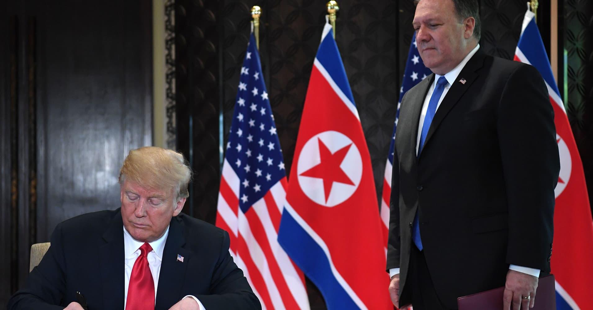US-South Korea military exercises would resume if North Korea stops good-faith talks, Pompeo says