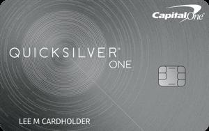 Best for Cash Back: Capital One® QuicksilverOne® Cash Rewards Credit Card