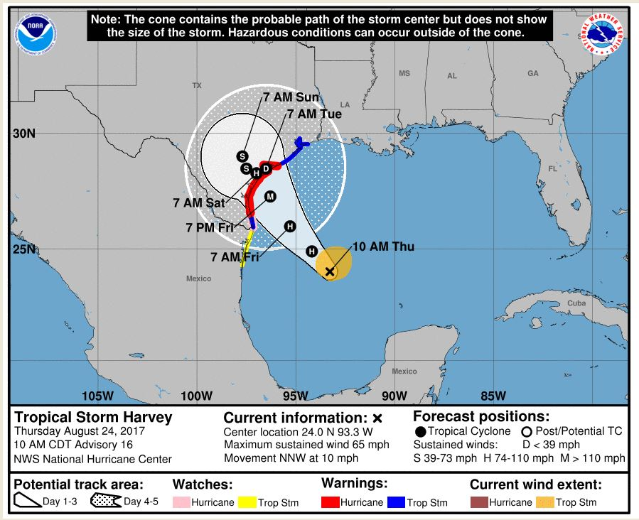 Map Of Texas Storms.Tropical Storm Harvey Springs Back To Life Now Threatens One Third