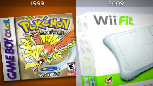 Pokémon Gold and SilverPlatform: Game BoyReleased: 1999Units Sold: Approx. 23 million Wii Fit (w/ Balance Board)Platform: WiiReleased: May 2008Units sold: 2,434,000