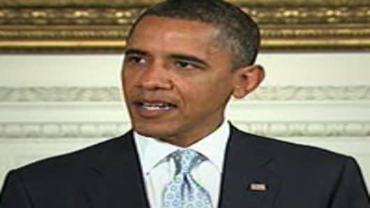 President Barack Obama speaking on downgrade