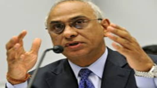 Deven Sharma, president of Standard & Poor's, testifies before a subcommittee of the House Financial Services Committee in Washington, D.C., U.S., in July 2011.