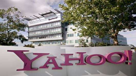 Exterior view of Yahoo Inc. headquarters in Sunnyvale, California.