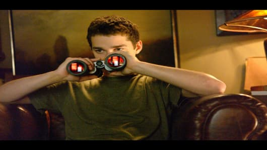 """This photo provided by Paramount Pictures shows Shia LeBeouf in a scene from """"Disturbia."""" (AP Photo/Paramount Pictures/Suzanne Tenner)"""
