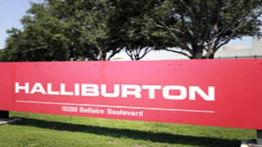 A Halliburton complex in far Southwest Houston occupies several acres of land Monday, July 17, 2006 in Houston. The oil services conglomerate posted second-quarter net income nearly double that of a year ago. (AP Photo/Pat Sullivan)