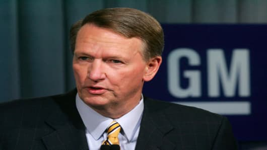 General Motors Chairman and Chief Executive Rick Wagoner.