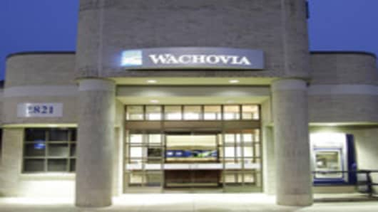 A Wachovia branch bank is shown in a Charlotte, N.C. file photo from July 20, 2006. After a rough year, the banking industry appears headed for another in 2007. (AP Photo/Chuck Burton, File)