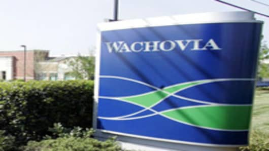 A Wachovia branch bank.