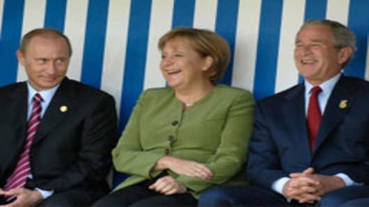 Merkel, Putin, Bush