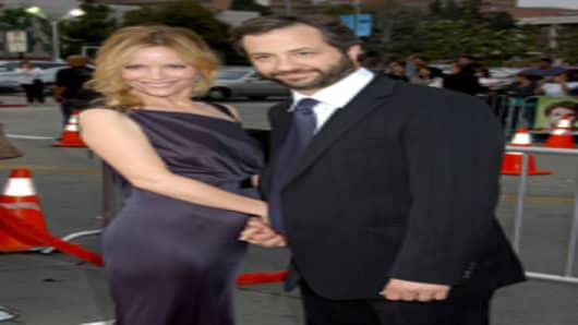 Judd Apatow and wife