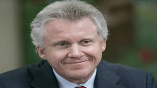 ** FILE ** General Electric (GE) Chairman, Jeff Immelt at Isaac Sheppard Elementary School in Philadelphia, in this file photo from April 25, 2006. General Electric Co. expects sales in China to double in the next four to five years, while its Chinese researchers should play a growing role creating products for global markets, Immelt said Monday May 29, 2006. (AP Photo/Matt Rourke,File)
