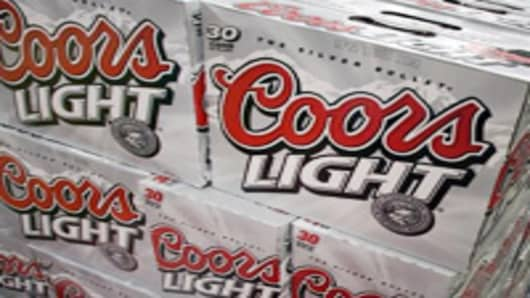 Boxes of Coors Light beer.