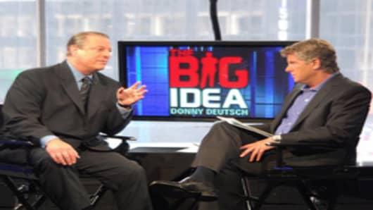 Donny Deutsch with Al Gore