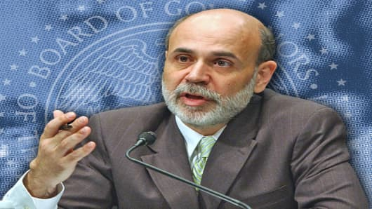 "Federal Reserve Board Chairman Ben Bernanke delivers the board's Monetary Policy Report to the Senate Banking Committee in Washington Wednesday, July 19, 2006. ""The recent rise in inflation is of concern,"" and possible increases in the prices of oil as well as other raw materials ""remain a risk to the inflation outlook,"" Bernanke said. (AP Photo/Dennis Cook)"