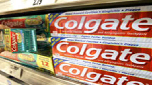 Colgate toothpaste.