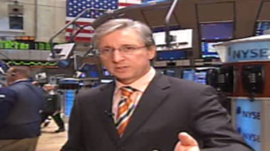 Bob Pisani on the floor of the NYSE.