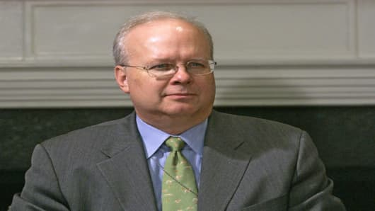 White House Deputy Chief of Staff Karl Rove listens as President Bush participates in a meeting on Medicare in the Roosevelt Room of the White House in Washington, Monday, April 23, 2007.  (AP Photo/Gerald Herbert)