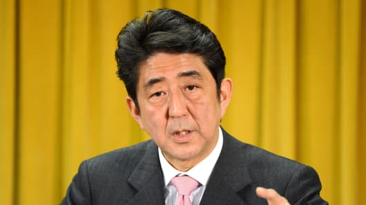 Shinzo Abe, incoming Prime Minister of Japan.
