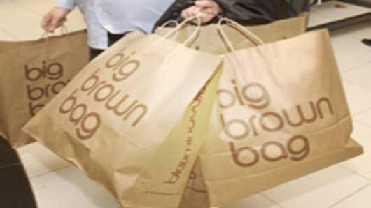 Shopper with Bloomingdales Bags