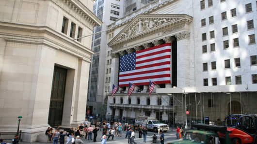 The New York Stock Exchange, downtown New York City.