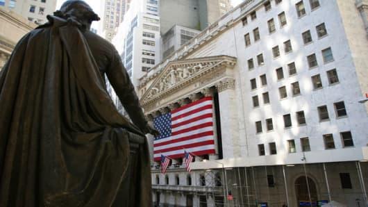 The New York Stock Exchange, downtown Manhattan.