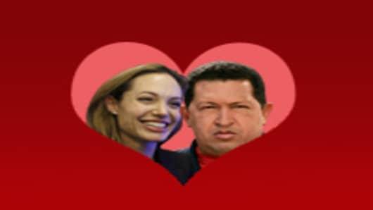 Angelina Jolie & Hugo Chavez