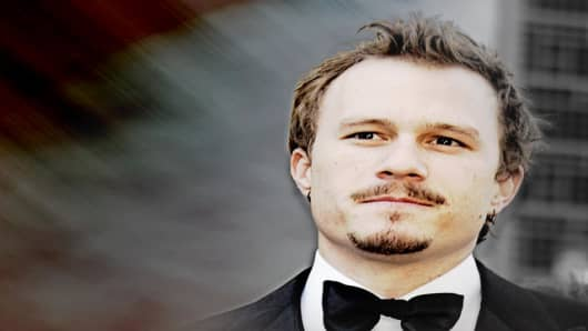 "Australian actor Heath Ledger, nominated for an Oscar for best actor in a leading role for his work in ""Brokeback Mountain,"" arrives for the 78th Academy Awards Sunday, March 5, 2006, in Los Angeles.  (AP Photo/Reed Saxon)"